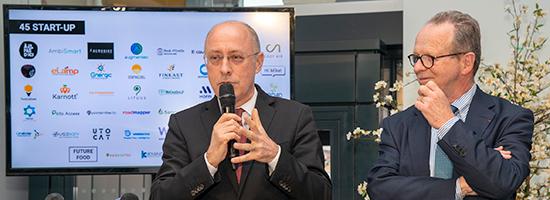 Christian Valette, Directeur général du Crédit Agricole Nord de France et Bernard Pacory, Président du Crédit Agricole Nord de France