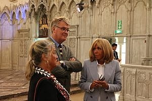 Visite Privée de Brigitte Macron et Sébastien Lecornu à la Chartreuse de Neuville