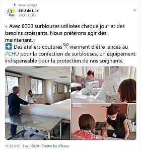 Deux appels aux dons ont été lancés fin mars par le Centre Hospitalier Universitaire de Lille et le Réseau Entourage.